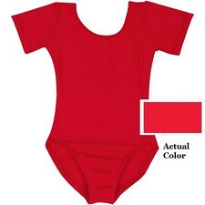 Mondor 496 Red Child's Size Small (4-7) Short Sleeve Leotard