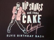 Chuys Tex Mex T Shirt Elvis Birthday Bash Large Ships Free