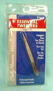 SALLY HANSEN Point Tip TWEEZERS Pointed Needle Ingrown Hair Splinter Compact NEW