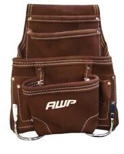 AWP Suede 10 Pocket construction Tool Bag/Pouch/Pocket Suede leather