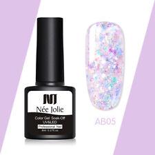 NEE JOLIE 8ml Glitter UV Gel Polish Bling Sequins Soak Off Nail UV Gel Vanish