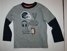 New Gymboree Boys Football Athlete's Mind Top Tee 4 Year Straight A Athletes