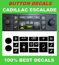 2007-2008-2009-2010-2011-2012-2013 CADILLAC ESCALADE A/C BUTTONS STICKERS DECALS