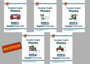 RECEPTION PHONICS PRACTICE BOOKS 5 BOOK COMPLETE BUNDLE FUN AND EASY TO LEARN