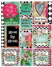 junk journal card kit, mixed media cards, collage art, 10 junk journal cards
