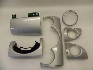 Mini Cooper One R50/53 Interior Dash Board Cover Trim Set White Silver