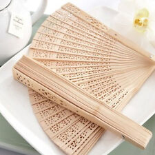 1PC Classical Folding Wooden Carved Print Fragrant Hand Fan Crafts Gifts Women