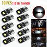 10x Canbus 6000K White T10 Wedge LED Light bulbs W5W 2825 192 168 194 Error Free