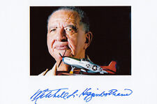 Tuskegee Airman WWII 1942-1946 Mitchell Higginbotham SIGNED 4x6 PHOTO AUTOGRAPH
