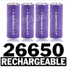 4 PILES ACCUS RECHARGEABLE BATTERIE 26650 8800mAh 3.7V Li-ion BATTERY