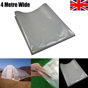 300G Heavy Duty Greenhouse Pollytunnel Clear Plastic Film Foil Cover Sheeting