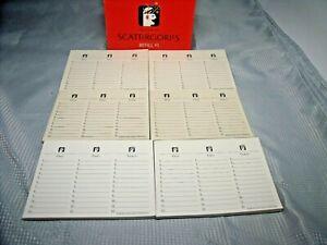 Scattergories Refill Lists / Pads 400 Sheets Scattergories Pads      1lb7oz