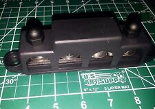 """250 Amp @ 12v DC 4 3/8"""" Post, Terminal Busbar w/Cover 7 point distribution block"""