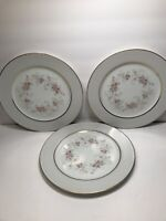 3 PORCELAIN DINNER PLATES BY ROSE CHINA ''WINTHROP'' JAPAN     10 1/4''