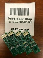 4 x Developer Chip for Konica Minolta Bizhub C452, C552, C652 Refill