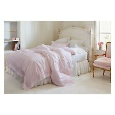 Simply Shabby Chic Pink Embroidered Border King Duvet with Shams NEW