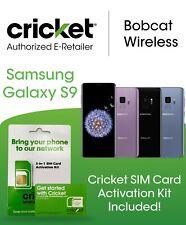 Samsung Galaxy S9 G960U 64Gb All Colors Includes Cricket Wireless Sim Card Kit