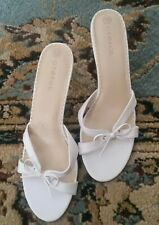 womens white sandals size 10 B worn 1 time