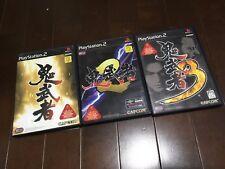 SONY PS2 PLAYSTATION 2 JAPAN NTSC ONI MUSHA  set