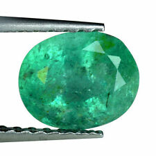 Zambia Oval Transparent Loose Emeralds