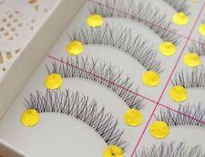 10 paires de naturel épais Faux cils Delicate réutilisable fait main