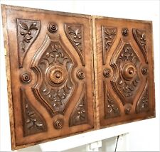 Pair rosace country farmhouse cottage panel Antique french architectural salvage