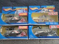 4 Hot Wheels Pavement Pounder Lot:Treasure Hunt Corvette,Transporter, Motorcycle