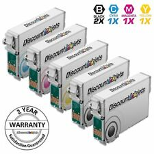 5PK Reman Cartridge Set for Epson Ink 124 T124 T124120 Black & Color NX230 NX130
