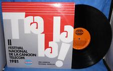 RARE VINYL RECORD LP 1981 TRA LA LA,MEDELLIN TELECOM CO.NATIONAL SONG FESTIVAL