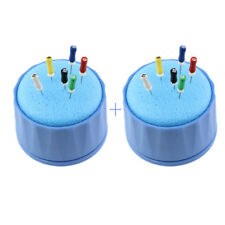2 Sets Dental Endo Stand Cleaning Foam Sponge File Holder Autoclavable Dispenser