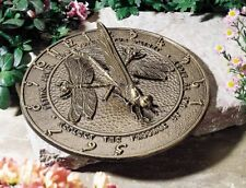 Whitehall Dragonfly Large Sundial - 3 Color Choices - No Rust - Discounted Price