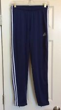 Adidas Soccer Pants Running Pants Navy Blue And White Zipper Bottom Legs Medium