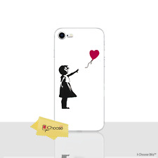 "Banksy Case/Cover Apple iPhone 8 (4.7"") / Screen Protector / Silicone / Heart"