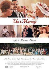 Affiche 40x60cm UN MARIAGE /A WEDDING 1978 Robert Altman - Gassman NEUVE R2016