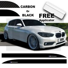 BMW F 20 21 1 Series M Performance Side Skirt 3D Carbon Sticker Decal Livery