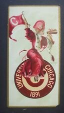 Rare Vintage Trade Card-University Of Chicago 1891 By F Earl Christy