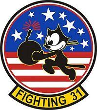US Navy Tomcat VF-31 Patch Sticker