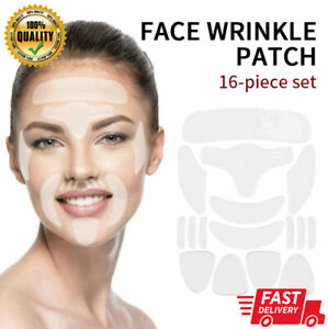 16PCS Silicone Face Eye Forehead Anti Wrinkle Patch Reusable Facial Lifting Pads