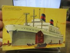 Other Old Postcard Boat Ship Cruise Ss President Cleveland American Lines Luxury
