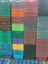 50 x Bail Arm Crates Bale Arm Plastic Boxes Stacking Trays 60 x 40 x 20cm