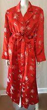 PEONY BRAND SHANGHAI Vintage 40's style RED Chinese Silk ROBE 40 US 8 STUNNING