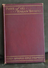 Vintage Theater audience playbook PLAYS OF THE ITALIAN THEATRE hard cover 1921