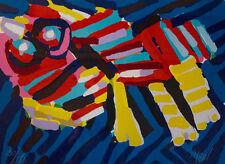 Karel Appel (Head Like An Animal) Framed Original Art