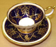 Aynsley Georgian Cobalt 8028 Cup and Saucer