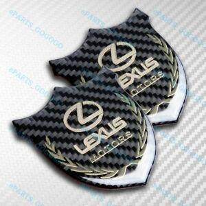 New 3D VIP Carbon Fiber Car Front Body Trunk Rear Side Badge Emblem for LEXUS X2