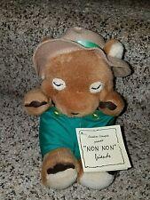 """Creative Concepts 8"""" Non Non Friends Plush Bear- Sleepy Guy vintage Nwt j81 Rare"""