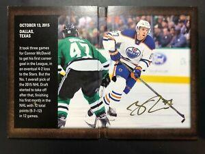 2015-16 SP Authentic Moments Connor McDavid Rookie Auto Signature Booklet RARE