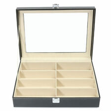 8 Slots PU Glasses Display Storage Case Box Organizer For Sunglasses Eyeglasses