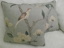 """ELEONORA BY ZOFFANY 1 PAIR OF 18"""" CUSHION COVERS - DOUBLE SIDED & PIPED!"""