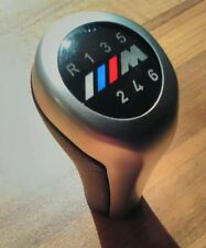 BMW M SPORT M Power 6 Speed Gear Knob Stick s'adapte à toutes les Manuel voitures Cuir Chrome